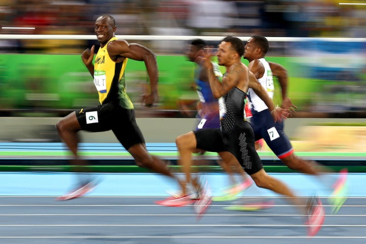 Usain Bolt of Jamaica secures his place as the fastest man in the world in 2016.