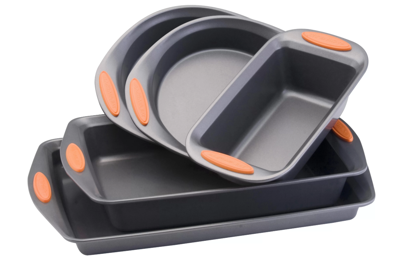 A five-piece bakeware set that resists warping and can basically be used for just about everything.