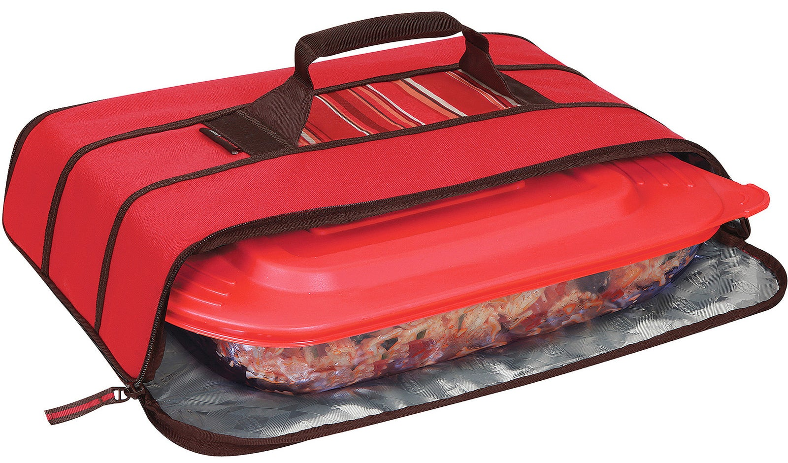 A durable potlucker with an easy-clean lining and radiant barrier to help seal in heat for hours.