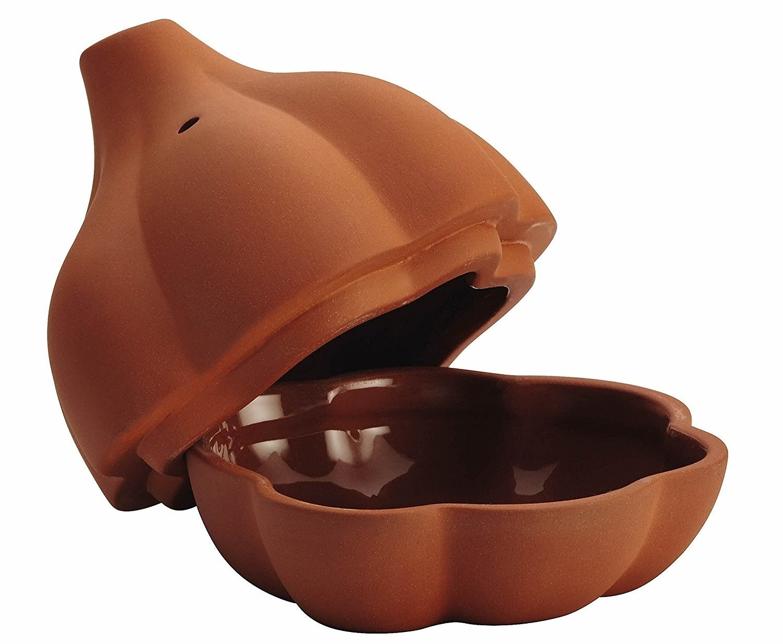 Rachael Ray Cucina Stoneware 4.5-Inch Terra Cotta Garlic Roaster
