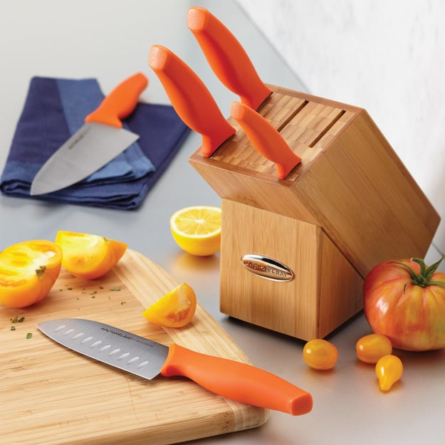 An eight-inch chef's knife that's corrosion-resistant and comes with a protective sheath for when not in use.