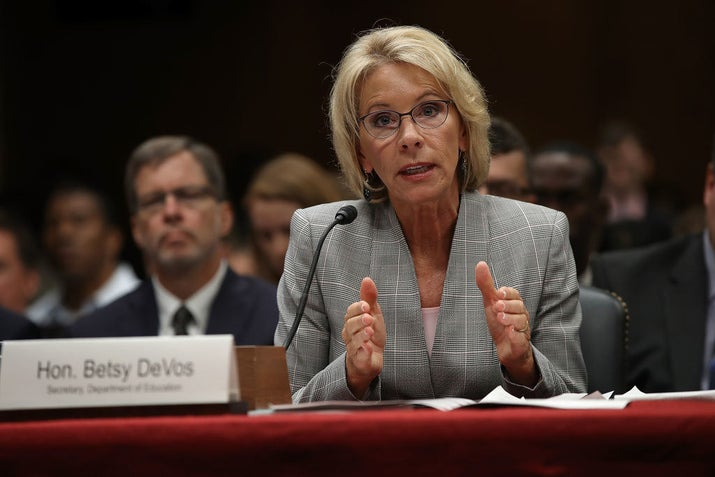 Education Sec. Betsy DeVos
