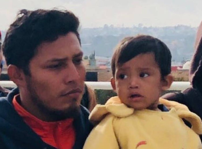 Jose Demar Fuentes, 30, and his son Mateo.