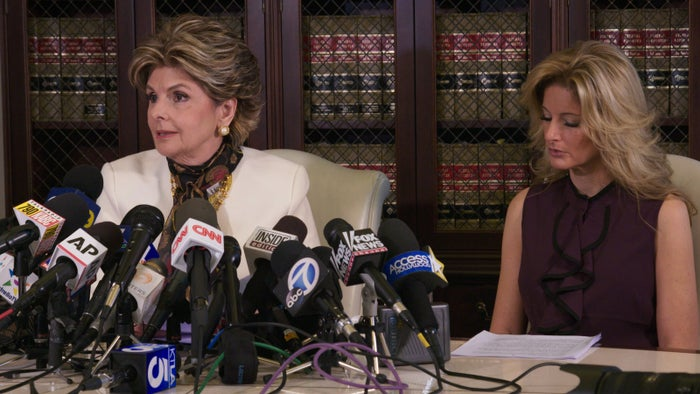 Allred and Zervos, in Los Angeles, on Oct. 14, 2016.