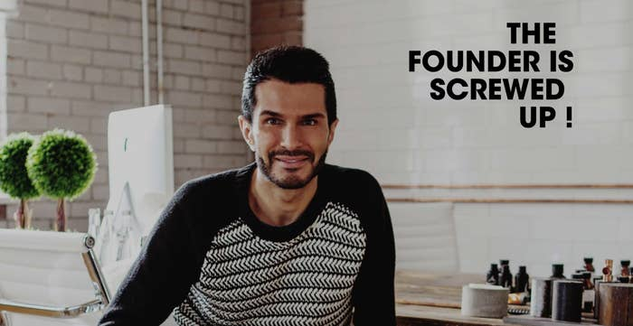 """Yes, this is really what's on the Deciem website when you click on """"founder."""""""