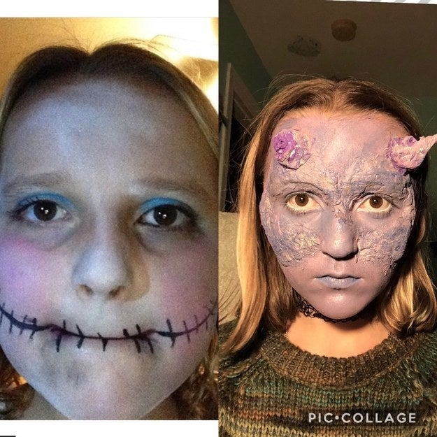 I've been doing special FX makeup for three years now. – Reesebalt