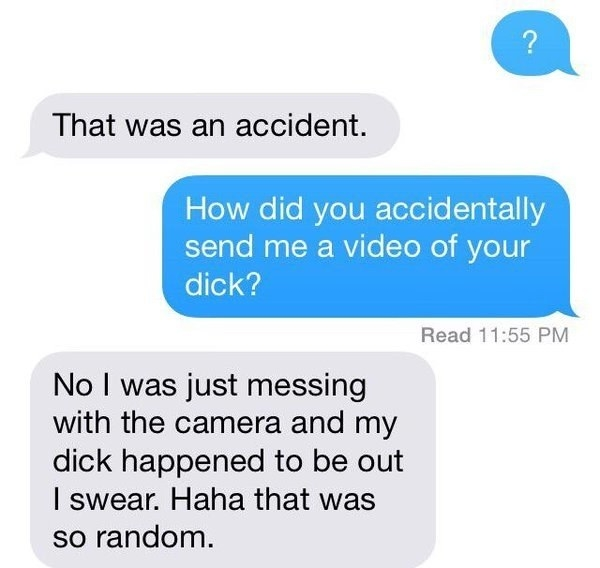 And never send unsolicited nudes!!!