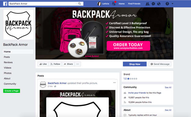 After Parkland, Companies Are Selling Uncertified Bulletproof Backpacks 3