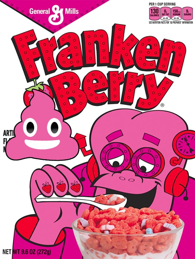 When it was first released, Franken Berry cereal was causing people to have pink poop.