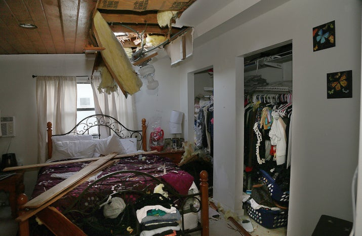 Image result for Canadian air force raft crashes through Miami woman's roof