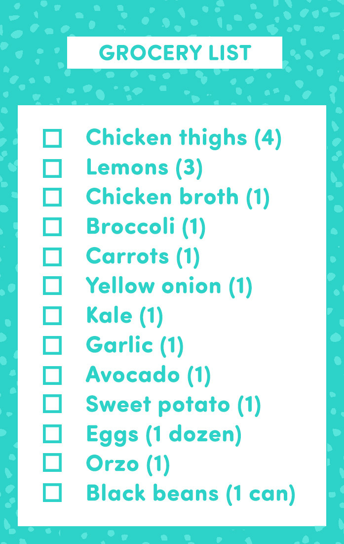 grocery list for two
