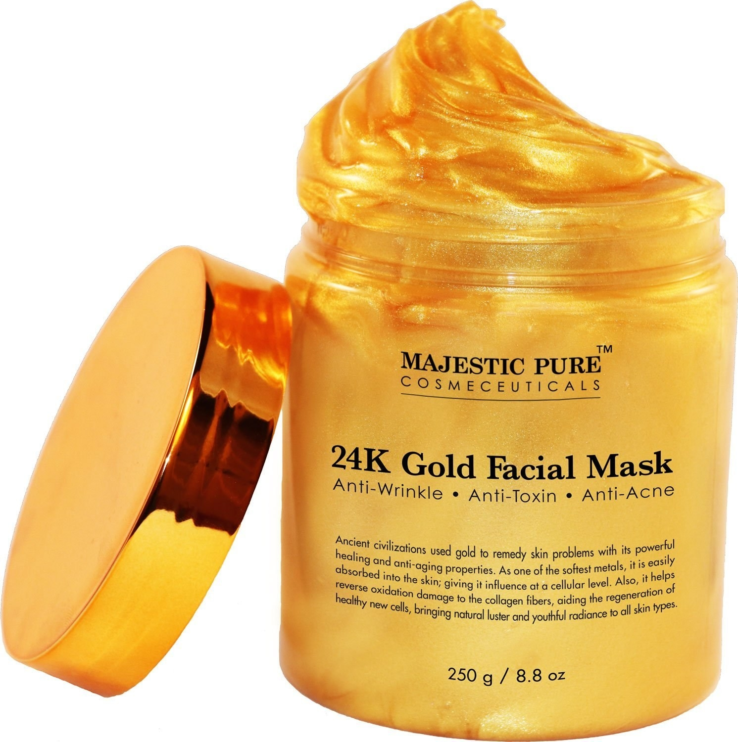 28 things thatll help you pretend to be a celeb 9 a 24k gold face mask made for brightening your highly photographable face and silicone brushes to help apply it because you live in the future nvjuhfo Images
