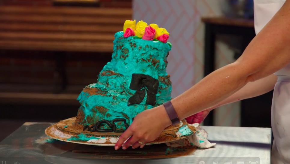 Their cakes lean.