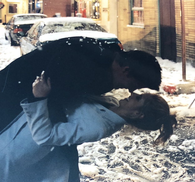 Look, I don't mean to break your heart but here's a picture of Angel (David Boreanaz) and Buffy being the sweetest:
