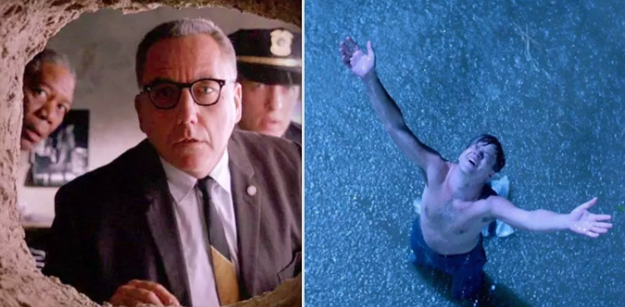 In The Shawshank Redemption, when Andy escaped from prison via a hole in the wall, after plotting his getaway and redemption for nearly 20 years.