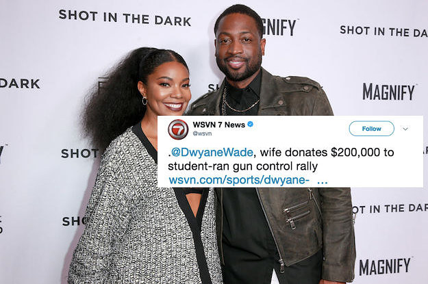 """Gabrielle Union Called Out A News Site For Identifying Her As Dwyane Wade's """"Wife"""""""