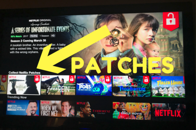 "Netflix is testing out a new feature called ""Patches"" on certain kids shows. It lets you collect patches by...watching episodes of the show."