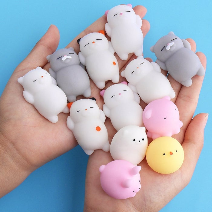 """Promising review: """"My kids loved these since they arrived and have not stopped playing with them. When they are angry they squeeze it and it has helped at times. They have gotten very dirty but I just rinse them with water and let them air dry and they are as good as new."""" —Miriam MendozaGet a pack of 12 from Amazon for $7.69 or 20 from Walmart for $18.87."""