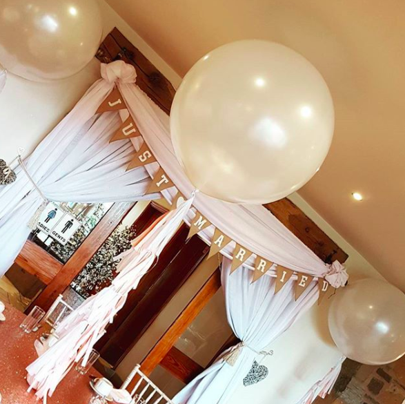 Add even more class and flare to your balloons by putting tassles on them.