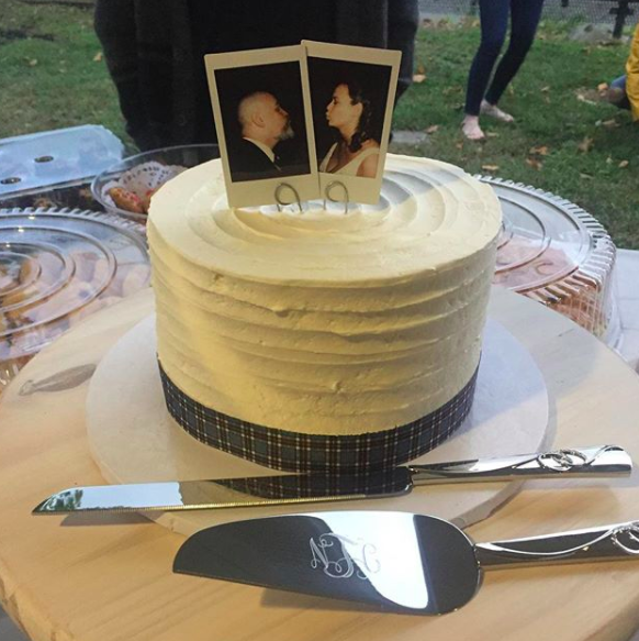 And, although it's not traditional, Polaroid photos are an alternative to a cake topper and add a personal touch.