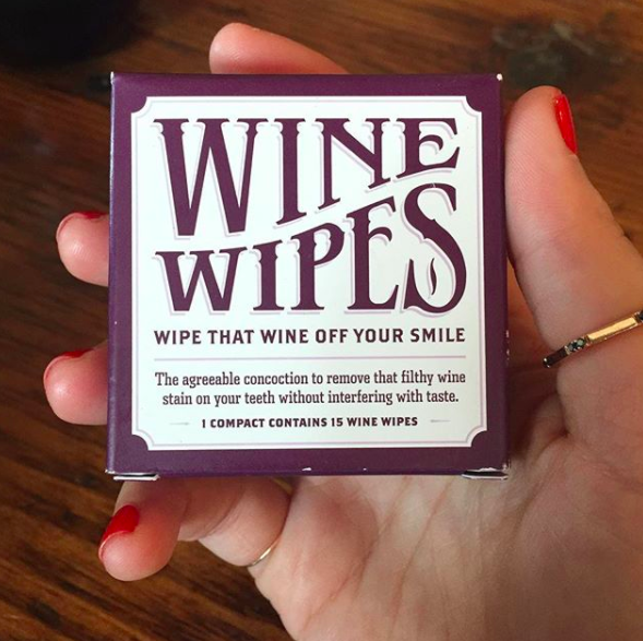 It's also handy to buy some wine wipes to prevent the dreaded wine mouth.
