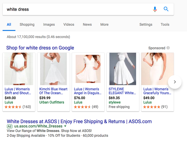 Try shopping for white dresses that aren't specifically labeled as wedding gowns.