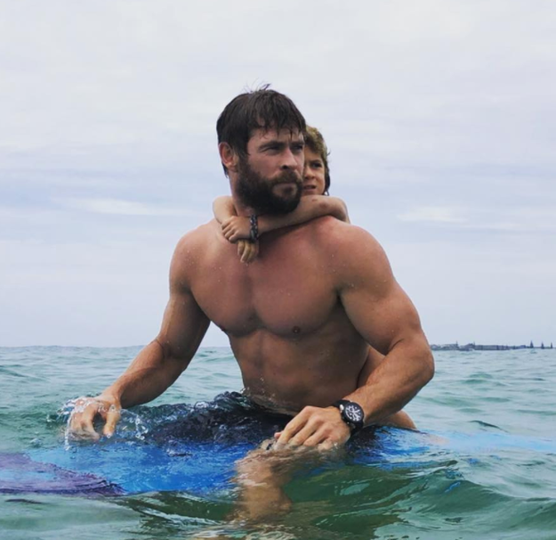 So Chris Hemsworth has recently been spending a lot of time with his family in Australia, growing an epic beard.