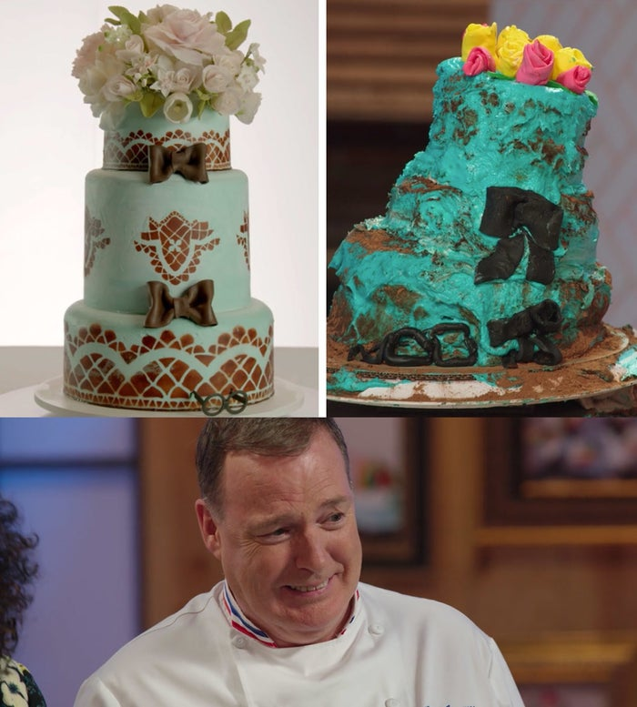 It's a competition show. Three bakers, all amateurs, set against the clock.