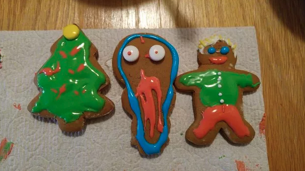 These cookies that turned out to be more spooky than festive: