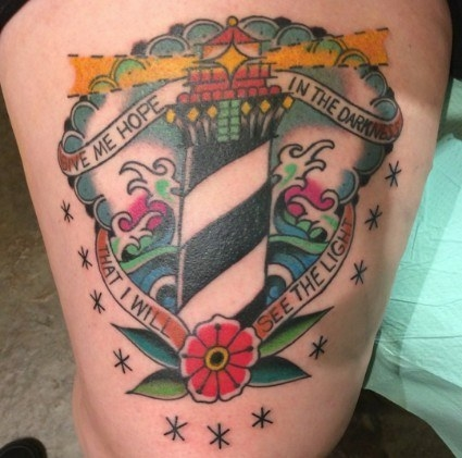 This colorful, inspiring tattoo: