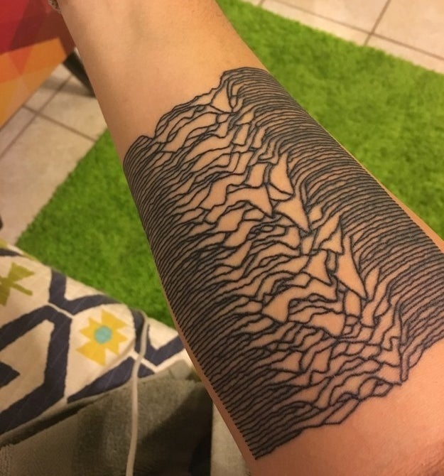 This record-inspired tattoo celebrating a milestone: