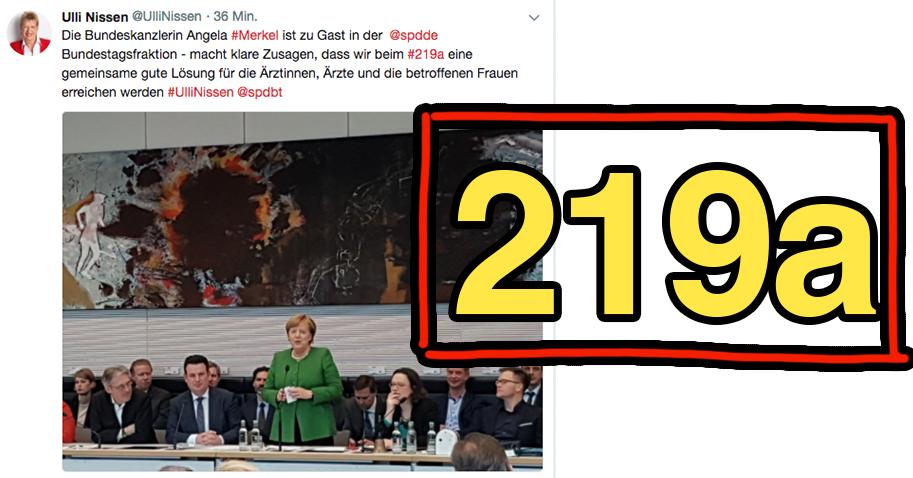Die SPD zieht ihren Antrag zu Paragraf 219a zurück.