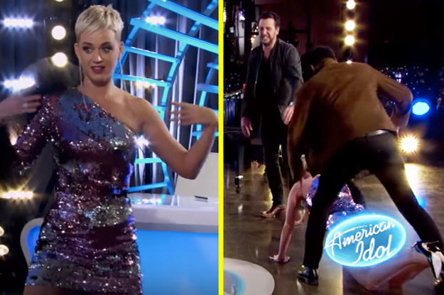 "Katy Perry Danced, Fell Down, Flashed Everyone, And Then Did Push-Ups During An ""American Idol"" Audition"