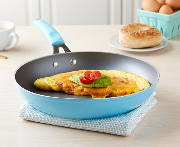 Know what kind of pan to use for what meals — and only use nonstick for things you need to, like making eggs or pancakes (things you don't need to crisp up).