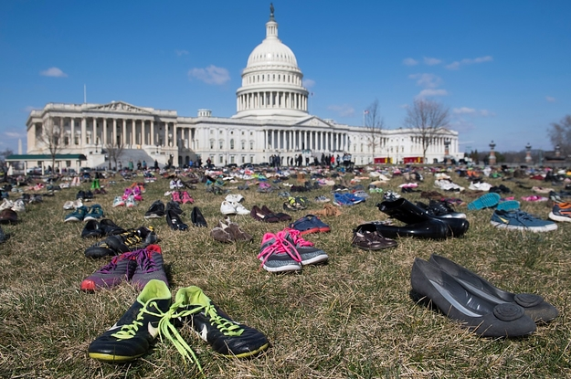 Protesters Left 7,000 Pairs Of Shoes In Front Of The Capitol For Children Killed By Gun Violence
