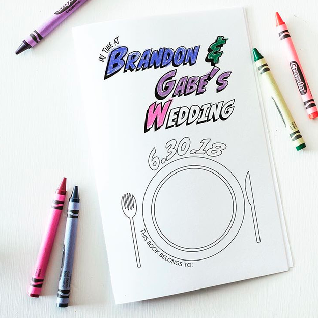Keep your child guests entertained by providing fun coloring books.
