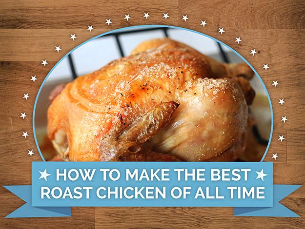 The roast chicken