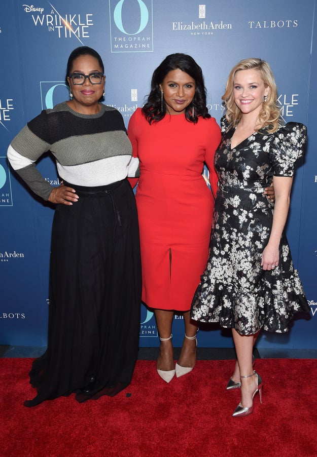In case you've somehow missed it, the cast of A Wrinkle in Time is a truly iconic group of people including Oprah Winfrey, Mindy Kaling, and Reese Witherspoon.