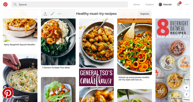 Take advantage of Pinterest and bookmark recipes.