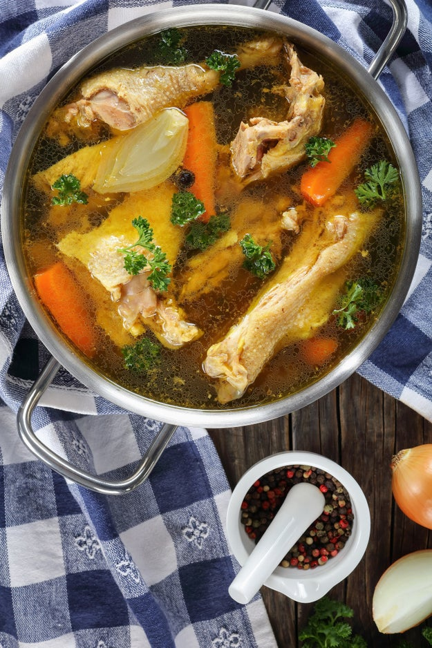 Or cook your food in chicken or vegetable broth.