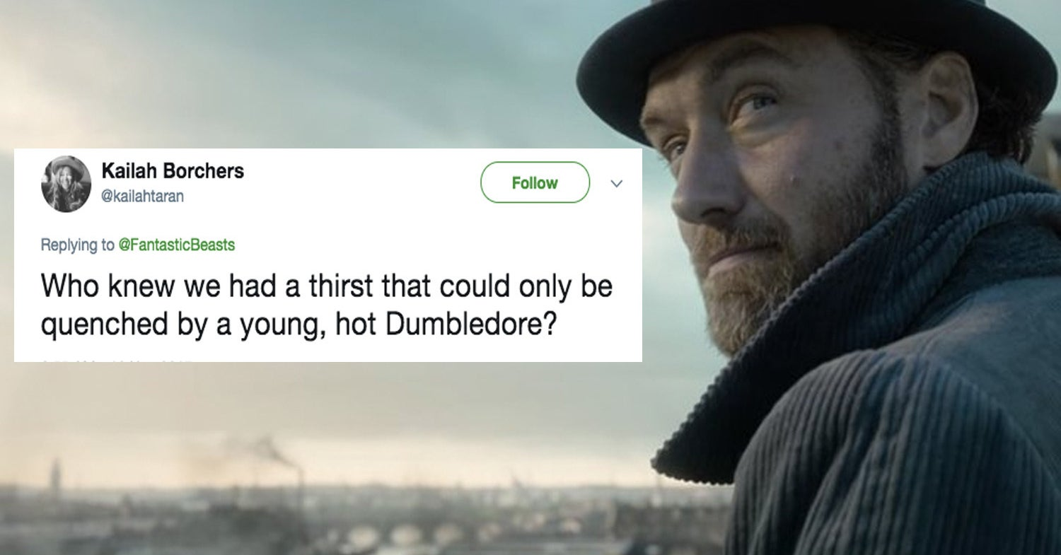 "People Can't Handle How Hot Young Dumbledore Is In The New ""Fantastic Beasts"" Trailer"