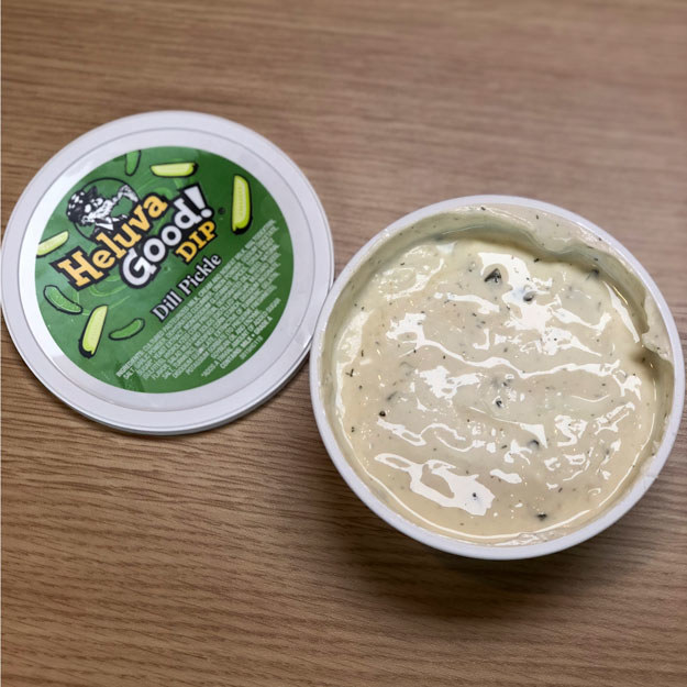 For the record, here's what the Dill Pickle Dip looks like up-close-and-personal.