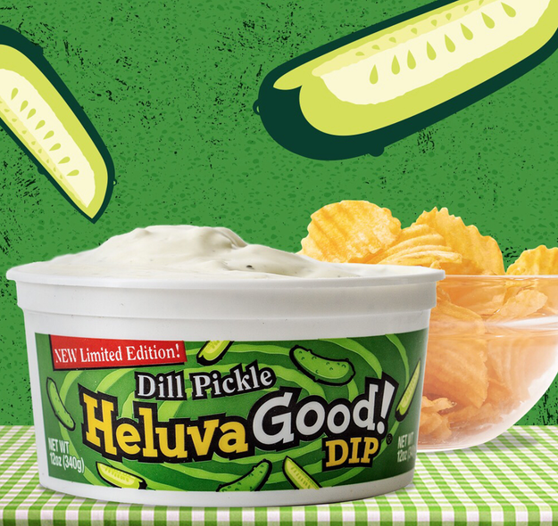In case you hadn't heard, a new blessing (or curse, depending on how you feel about pickles) has hit the marketplace: DILL PICKLE DIP.