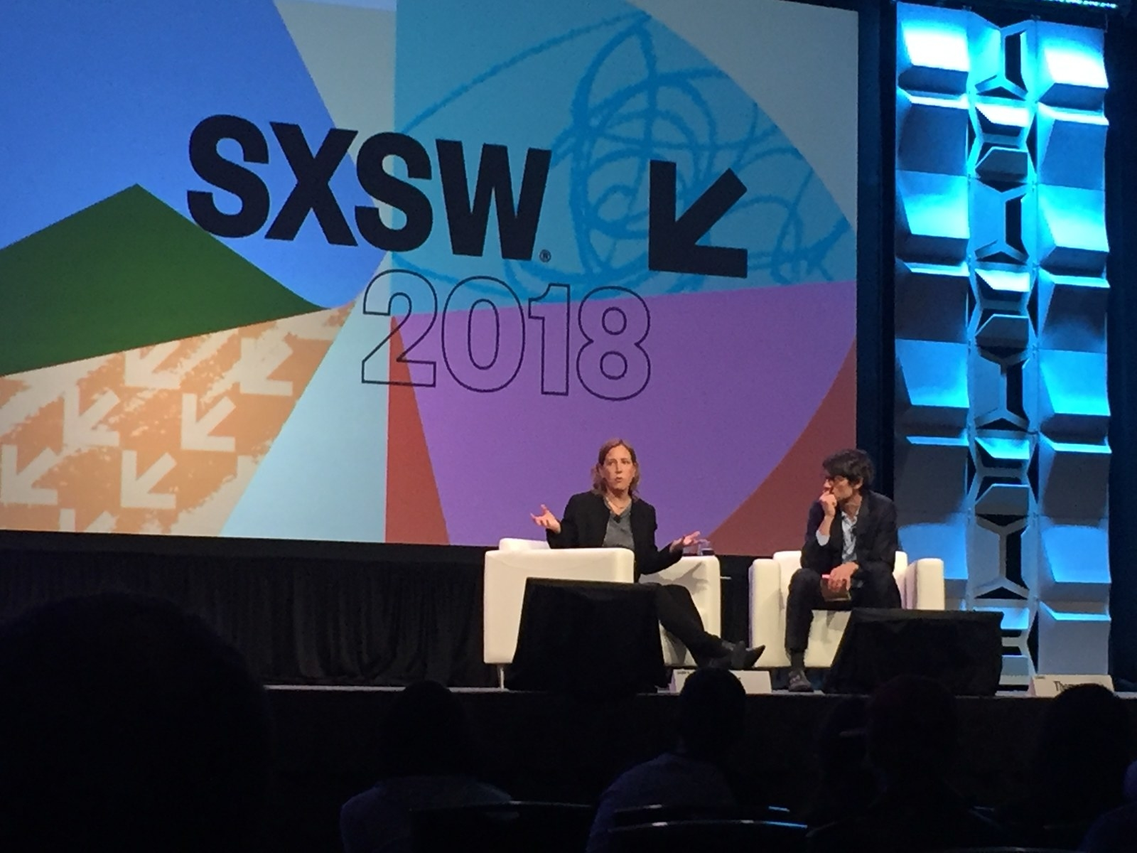 YouTube CEO Susan Wojcicki on stage at the South by Southwest conference Tuesday.