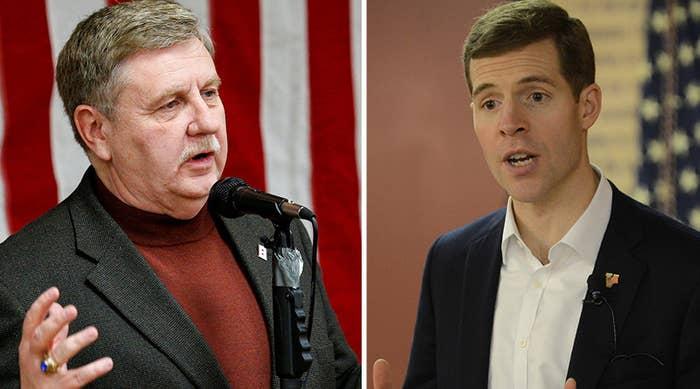 Republican Rick Saccone (left) and Democrat Conor Lamb