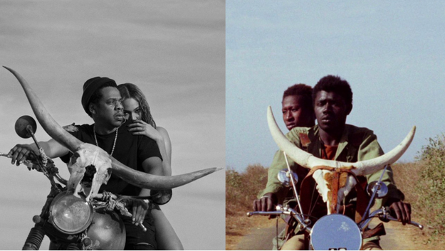 Beyoncé and Jay-Z have just announced the dates for their new joint tour, On The Run II, later this year. And not for the first time, the power couple are drawing inspiration from Africa. The tour's promo video and poster is a clear shoutout to the 1973 vintage movie Touki Bouki, by Senegalese director Djibril Diop Mambéty.
