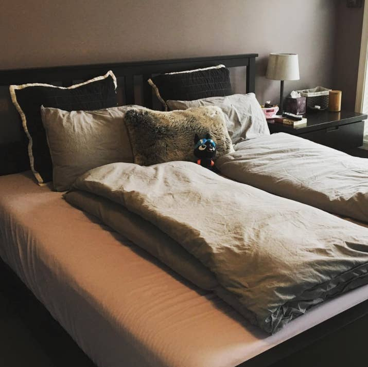 While cuddling, sex, and conversation are all great ways to de-stress and bond with your partner, sharing a bed with someone who turns a lot during the night or steals covers is really bad for your sleep. With two separate duvets, you can both stay cozy and keep your own sleep routines without resorting to separate beds.