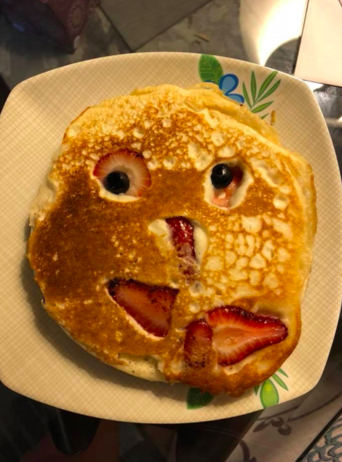 This haunting pancake that'll scare the crap out of a kid: