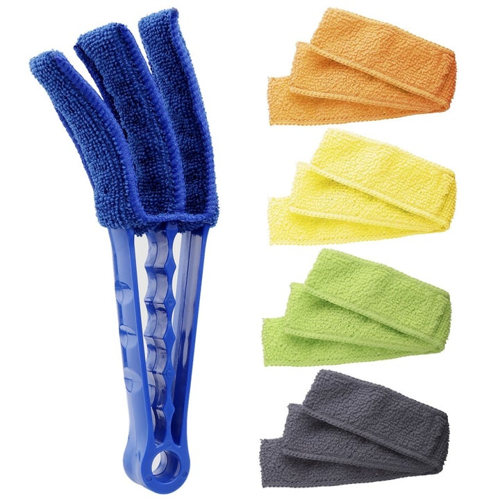 three prong cleaner with five sets of microfiber cloths