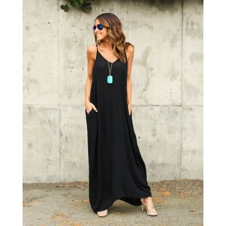 eb493ce88c50 A spaghetti-strap maxi dress to help make you look Instagram famous this  summer.
